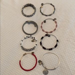 Lot of 8 Alex and Ani Bangles